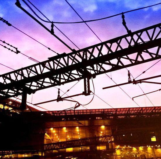 Sunrise Roma Lightisbeautyful Morning Light New-photolazio Cable Connection Bridge - Man Made Structure Dusk Power Line  Built Structure