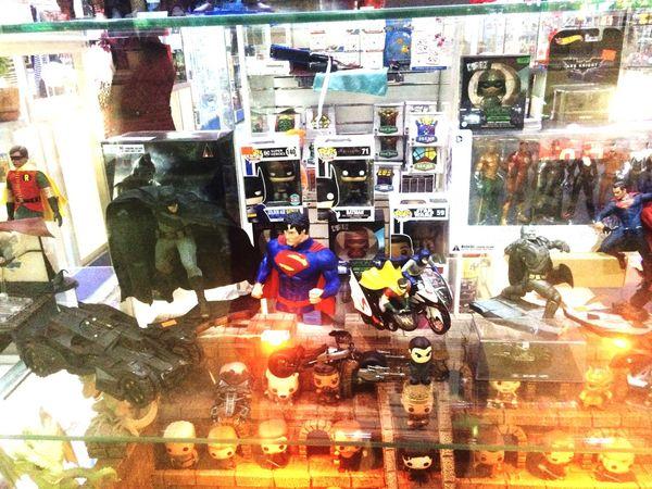 Batman ❤ Batmanvsuperman Superman Toys Real People Men Variation Two People Indoors  Day Workshop