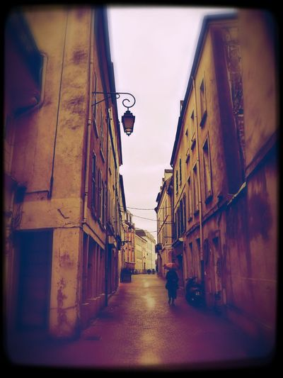 Street in Beaux (France 77) Alley Architecture City City Street Day Meaux No People Rain