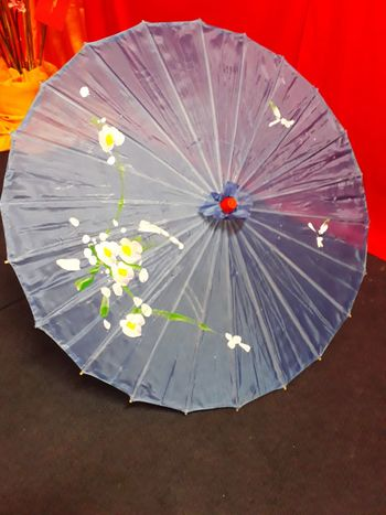 Purple Umbrella Purple Purple Umbrella Chinese New Year Chinese Umbrella Flower Drawing Flower And Leaf Pattern On Purple Flower Design Flower Designed Umbrellas Prosperity Flower Arts Culture And Entertainment Red Multi Colored Nature No People Close-up
