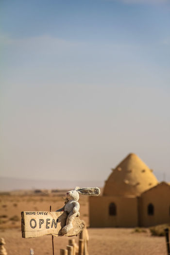 A famous cafe on the way to Palmyra. ASIA Ancient Bagdad Cafe Desert Doll East Palmira  Syria  Tourist Attraction  Travel Arabic Architecture Day Famous Place Focus On Foreground Hill Historical No People Old Oriental Outdoors Palmyra Rabbit Sand Unesco