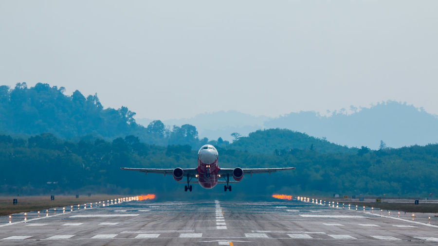Aircraft Airplane Airport Airport Runway Business Travel Commercial Airplane Flying Flying High Mode Of Transport Runway Sky Taking Off Transportation Transportation Turbine Wing