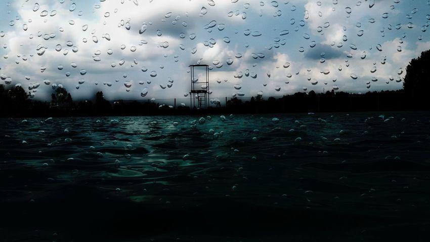 EyeEm Man Bird Flying Water Flock Of Birds Silhouette Mid-air Sea Migrating Drop Sky RainDrop Rainy Season My Best Travel Photo