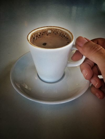 Coffee Coffee Time Coffee Break Hand Holding Turkish Turkishcoffee Greek Coffee  Greekcoffee Cup Cafe White Female People Drinks Drink Beverage
