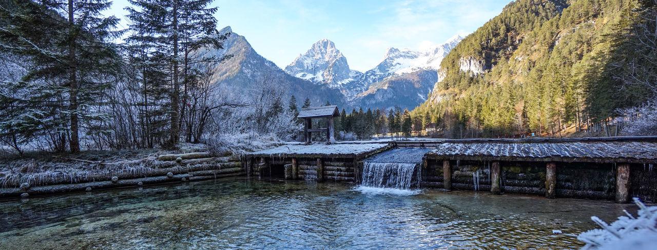 Beautiful rural winter lake scenerie