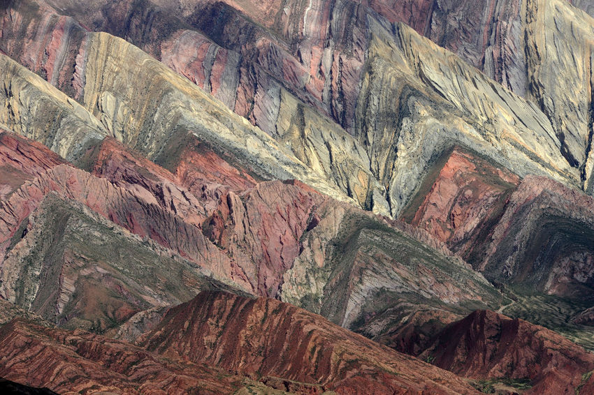 Andes Argentina Arid Climate Beauty In Nature Day Depression - Land Feature Geology Hornocal Humahuaca Landscape Mountain Mountain Range Nature No People Outdoors Physical Geography Rock - Object Rough Scenics Textured  Tranquil Scene Tranquility Travel Destinations
