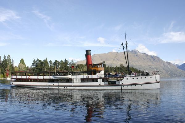 The T.S.S Earnslaw, a steamship c1912 on Lake Wakatipu, Queenstown, New Zealand Beauty In Nature Boat Cloud - Sky Day Harbor Lake Lake Wakatipu Mode Of Transport Mountain Nature Nautical Vessel No People Outdoors Sailing Scenics Sky Steamship T.S.S Earnslaw Tourist Attraction  Transportation Travel Travel Destinations Travel Photography Water Waterfront