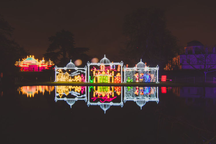 Chinese Lantern Festival - London - Chiswick House and Gardens Architecture Asian Culture Celebration Chinese Lantern Festival Chinese New Year Chiswick City Cny Illuminated Kung Hei Fat Choi Lantern London Multi Colored Nature Night Night Photography No People Outdoors Reflection Sky MISSION:BLACKBACKGROUND