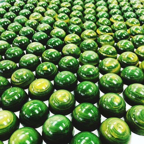 Calamansi bonbon Bruno Guillon Pastry Chocolate Calamansi Green Color Full Frame Large Group Of Objects Abundance Backgrounds Indoors  Food And Drink