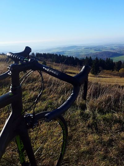 Cycling Rhön Wasserkuppe Herbst Autumn No People Outdoors Day Sky Landscape Nature