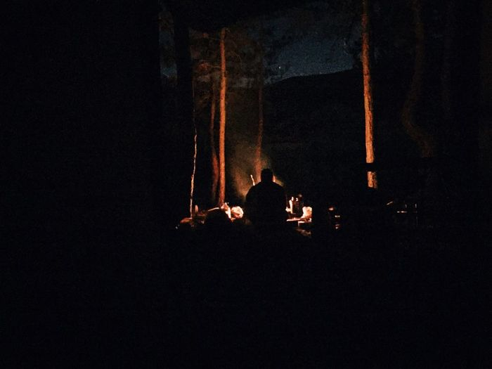Night Camping Fire Onemanalone Iphone6 HUAWEI Photo Award: After Dark