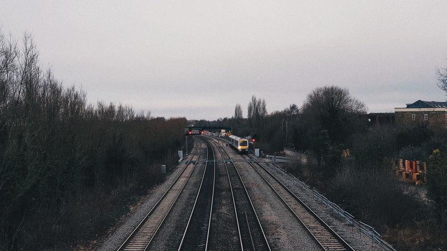 Railway in Oxford. The Way Forward Tree Transportation Railroad Track Day Sky Outdoors