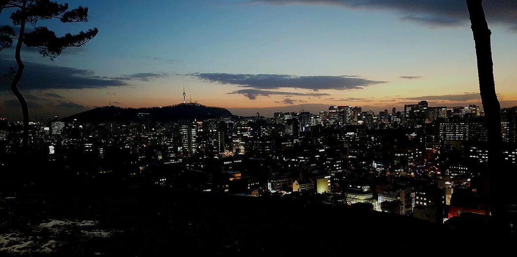 서울 낙산공원 혜화 대학로 야경 전망대 Seoul Seoul, Korea Night View Nightscene Vista De Noche First Eyeem Photo