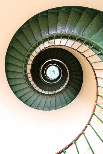 Kippipics Lighthouse Staircase Railing Spiral Stairs High Angle View Contis Plage
