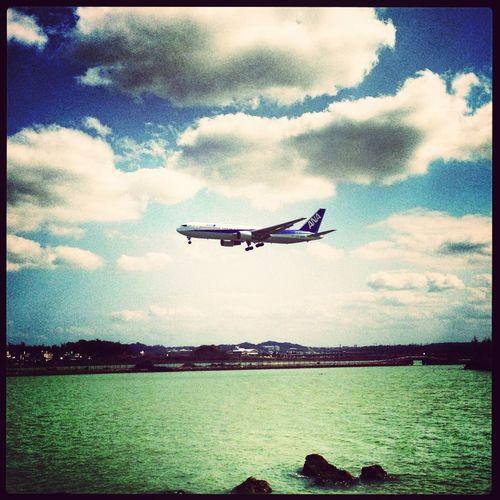At The Airport Okinawa Airplane