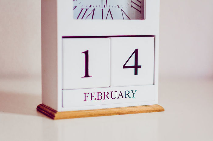Clock showing the date of valentines day on February, the 14th, 2018 2018 Date Engagement February February 2018 Hope Love Valentine's Day  Clock Clock Tower Close-up Date Night Day Indoors  Joy Love ♥ Lovelovelove Single Time Valentine's Day - Holiday Valentines Day Valentinstag