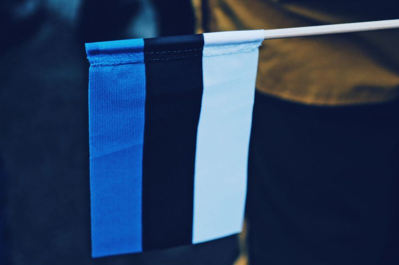 Independence Day Estonia Independence Day Freedom Parade Tallinn Peoplepower Peace Moving HERO Blue Close-up Indoors  Focus On Foreground No People Striped Still Life Textile Clothing Pattern Flag Selective Focus White Color Wood - Material Day Healthcare And Medicine Table Shape
