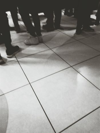Tiled Floor One Person People Real People Human Leg