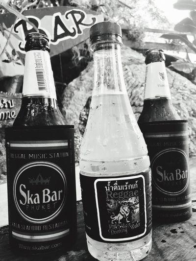 Bottle Drink Food And Drink Close-up Freshness Phuket Thailand EyeEmNewHere Phuket,Thailand Kata Beach,Phuket Thailand No People Blackandwhite Black And White Black & White Blackandwhite Photography Black And White Photography Black&white