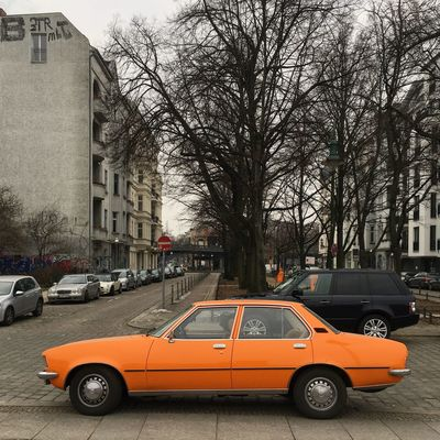 Architecture Berlin Photography Classic Car Abstract Architecture Bare Tree Berliner Ansichten Berlinstagram Building Exterior Built Structure Car City Day Land Vehicle Minimalism Mode Of Transport No People Outdoors Road Sky Skyporn Street Transportation Tree Vintage Cars