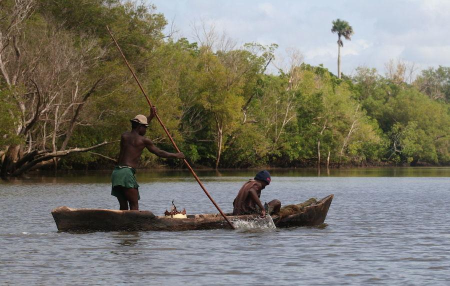 Day Kenya Mangroves Men Mode Of Transport Outdoors Rowing Sea Transportation Water