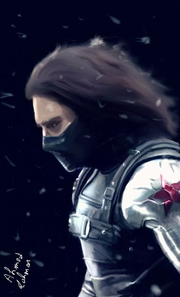 Winter soldier 🗡🔫Adult One Man Only Only Men Adults Only People One Person Men One Young Man Only Portrait Young Adult Night Indoors  Black Background Close-up Drawing Drawing ✏ Drawing - Art Product Captin America Captinamerica WinterSoldier Wintersolder