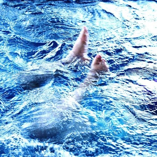 The Color Of Sport Water_collection Water Splash Water Sports Blue Water Little Girl Little Swimmer Acrobatic Dive Acrobatics