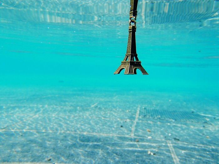 Eiffel Tower Undewater Paris Water Nature No People Outdoors Scenics Day Sea Beauty In Nature Sky