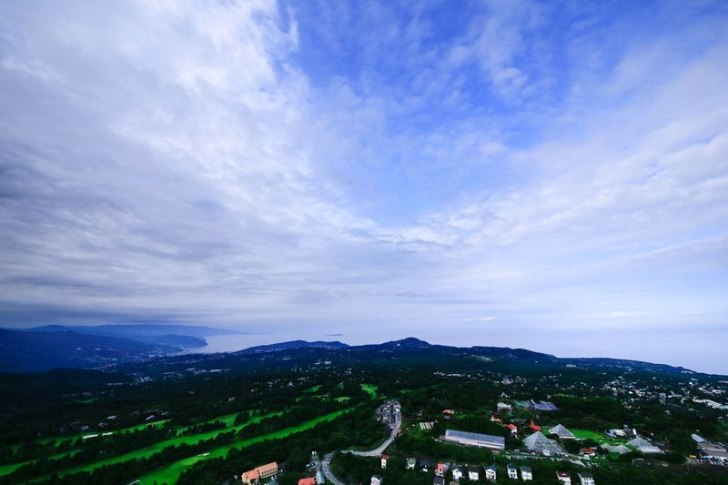 Cloud - Sky Sky Mountain High Angle View Architecture Built Structure Building Exterior Outdoors Scenics No People Day Beauty In Nature Nature Landscape