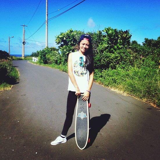 Skategirl Skateboarding Tropical Dusters