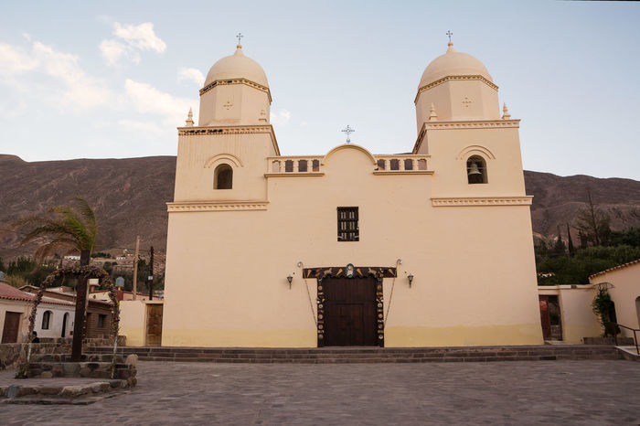 Church of Tilcara (Argentina) America Andes Architecture Argentina Church City Ciudad Humahuaca Iglesia Jujuy Landmark No People Our Lady Of The Rosary Outdoors Place Of Worship Pueblo Quebrada Religion Spirituality Street Tilcara Tilcara, Jujuy. Village