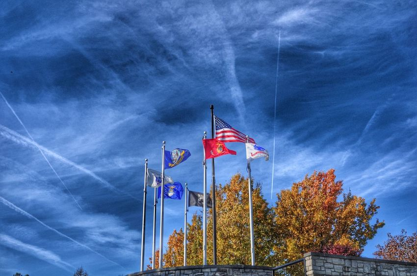 In memoreum of those that served ... Veterans Day Blue Sky