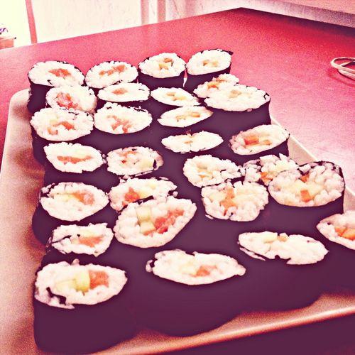 sushi homemade Enjoying Life