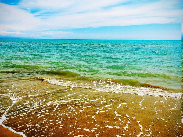Nature Photography Naturephotography Nature_collection Beuty Of Nature Water Wave Sea Beach Sand Tide Sky Horizon Over Water Cloud - Sky Landscape