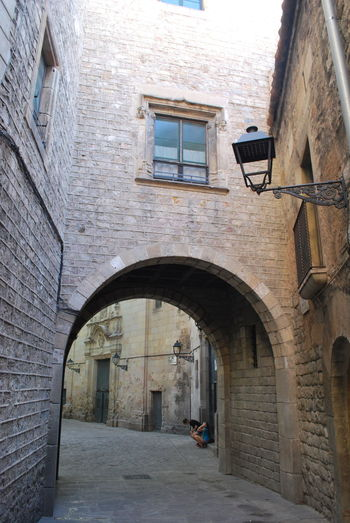 Arch Architecture Barcelona Barcelona, Spain Brick Wall Building Exterior Built Structure Catalonia Catalunya Day No People Outdoors SPAIN Street Street Photography Streetphotography