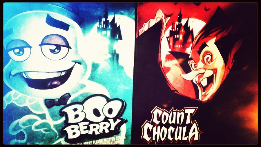 Picked up some childhood faves... Booberry Count Chocula OldSchool Cereal Scary Breakfast...