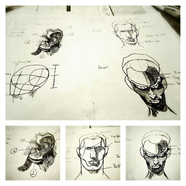 Everyday drawing - keep learning facial features and head Hand Drawing Sketch The Tree Academy Art, Drawing, Creativity
