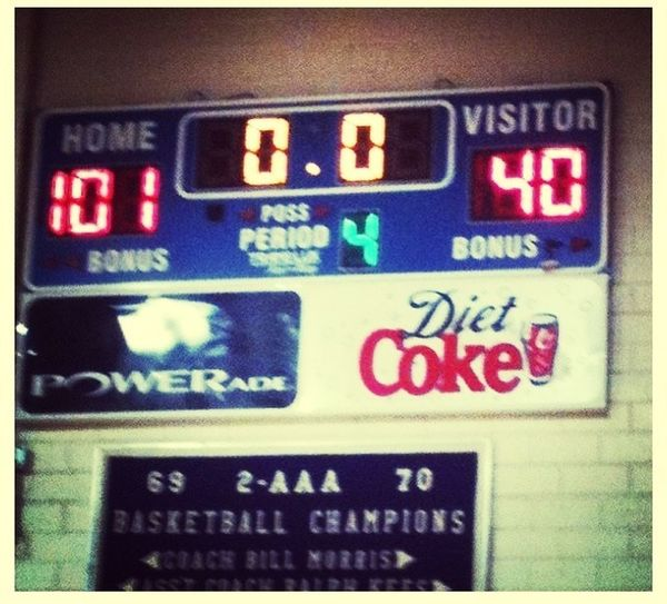 The Score From Lastnight