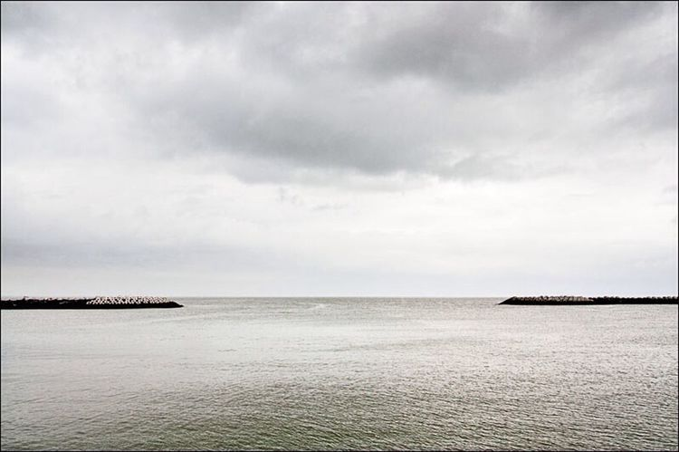 Sea Sea And Sky On The Road Ostend