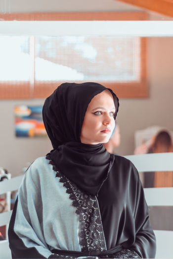 Muslimah in the west Fashion Office Beautiful Woman Close-up Day Focus On Foreground Hijab Hijabbeauty Hijabfashion Hijabstyle  Indoors  Model Muslim One Person Portrait Real People Traditional Clothing Young Adult Young Women