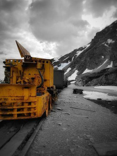 Minecart up at the abandoned mine Minecart Alaska