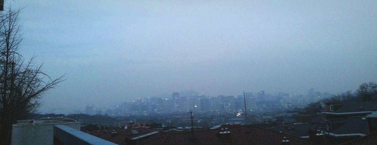 Cold Winter Middle réellement vue. Sky View Dust Luminous
