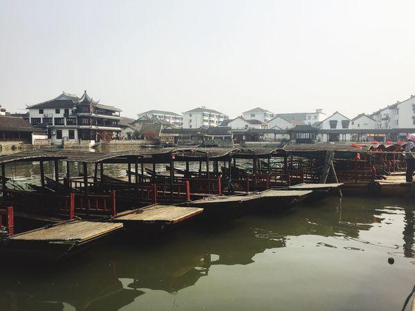 Watertown South China Kunshan Jiangsu Traditional Culture Boats Architecture Daylight