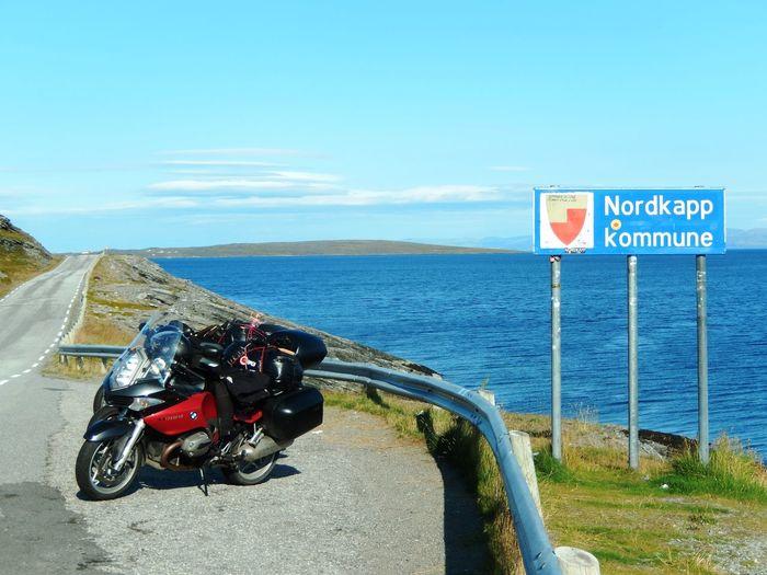 Bicycle Blue Mode Of Transport Nature Nordkap  Nordkapp North Cape Norway Norwegen Sea Sky Travel Travel Travel Destinations Traveling Water