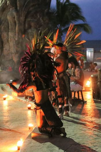 Mayan Indians dancing Dancing Around The World Mayas Yúcatan Burning Celebration Flame Full Length Illuminated Lifestyles Maya Indians Maya People Men Motion Native Maya Night One Person Outdoors People Real People Tree Women Young Adult Yucatan Mexico Yucatan Peninsula Yucatan People