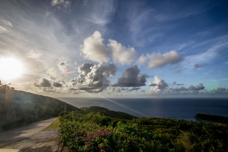 Virgin Gorda Beauty In Nature Bvi Cloud - Sky Day Landscape Mountain Nature No People Outdoors Scenics Sky Tranquil Scene Tranquility Water