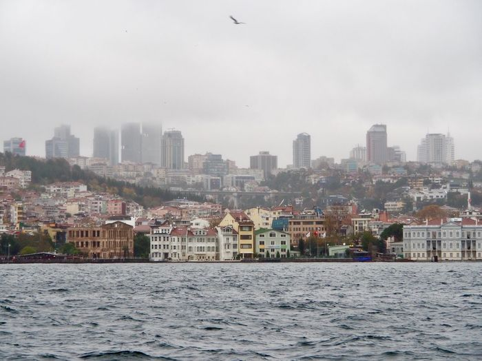 Houses by the Bosphorus After Raining View Architecture Building Exterior Built Structure City Building Sky Cityscape Urban Skyline Residential District Water Nature Landscape No People Day Waterfront