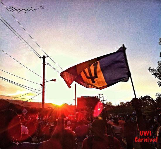 Barbados Carnival Sunset Having Fun
