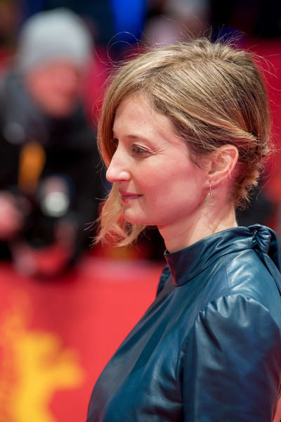 Berlin, Germany - February 18, 2018: Italian actress Alba Rohrwacher attends the 'Daughter of Mine' (Figlia Mia) premiere during the 68th Berlinale International Film Festival Berlin at Berlinale Palast Alba Rohrwacher Event Fame Famous Photocall Woman Actress Arts Culture And Entertainment Berlinale Berlinale 2018 Berlinale2018 Entertainment Italian Photo Call Popular Portrait Posing Red Carpet Red Carpet Event