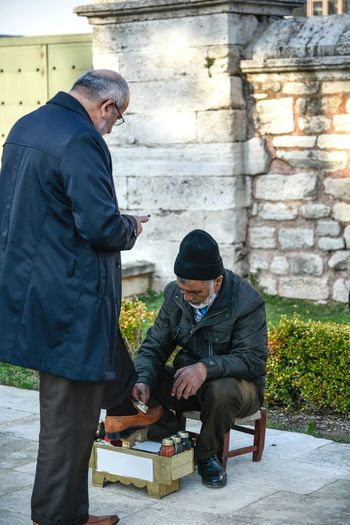Shoes cleaner in Istanbul Hard Work Traditional Istanbul Turkey Turkish Shoes Cleaner Shoes Cleaner Two People People Full Length Working